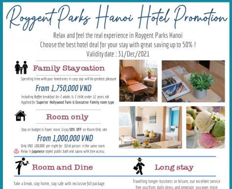 ROYGENT PARKS HANOI HOTEL PROMOTION